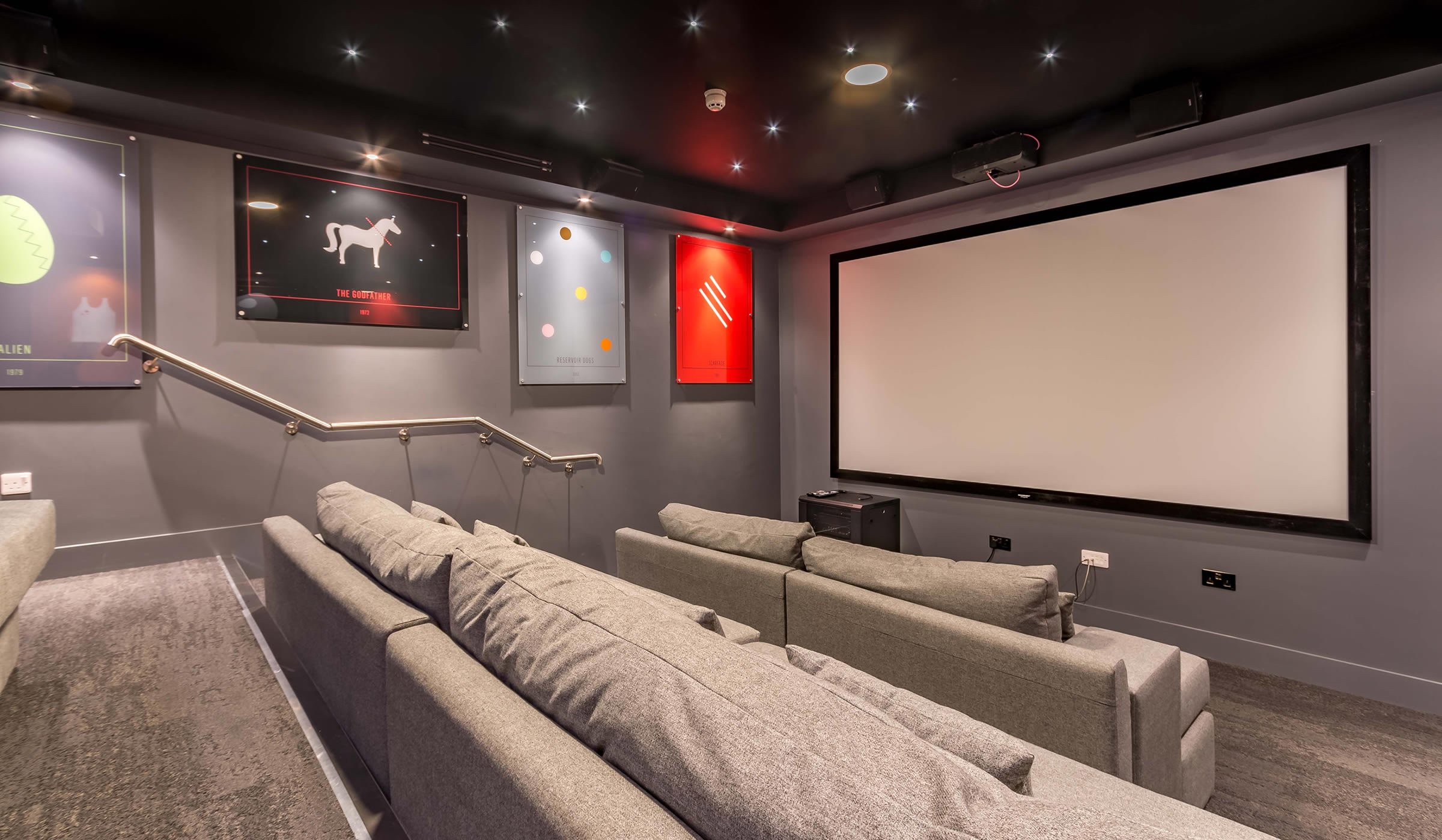 Vibe student accommodation cinema room