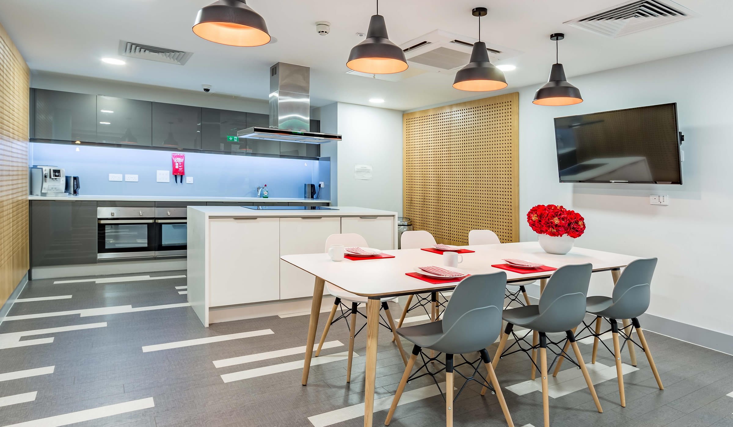 Vibe student accommodation dining area