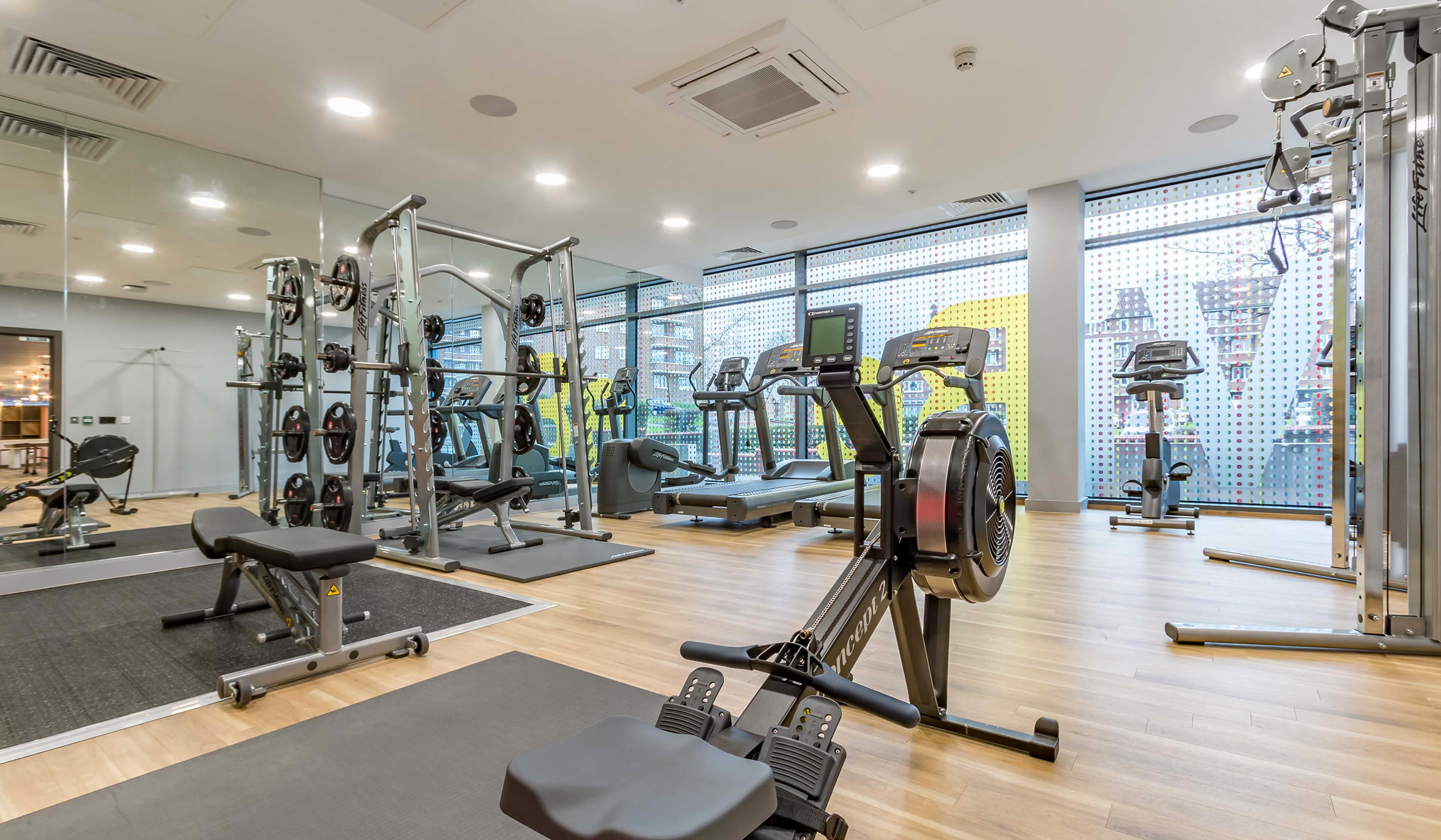Vibe student accommodation gym