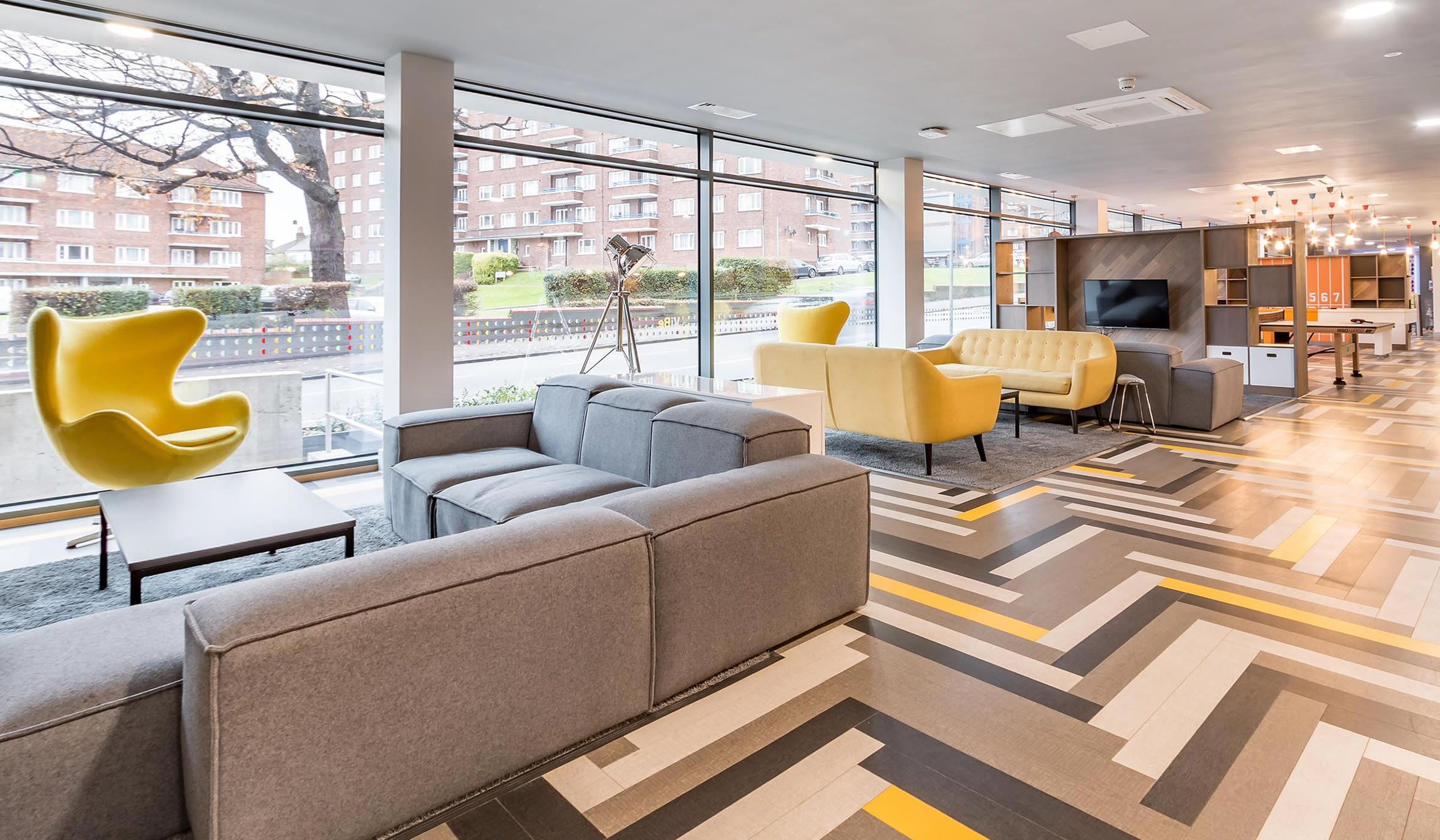 Vibe student accommodation lounge area