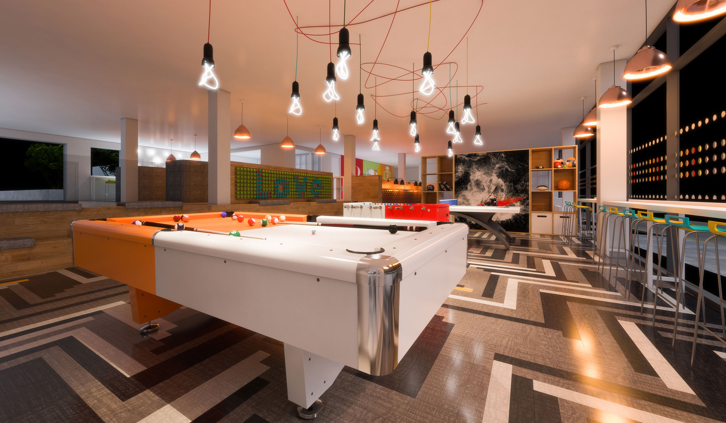 Vibe student accommodation games area