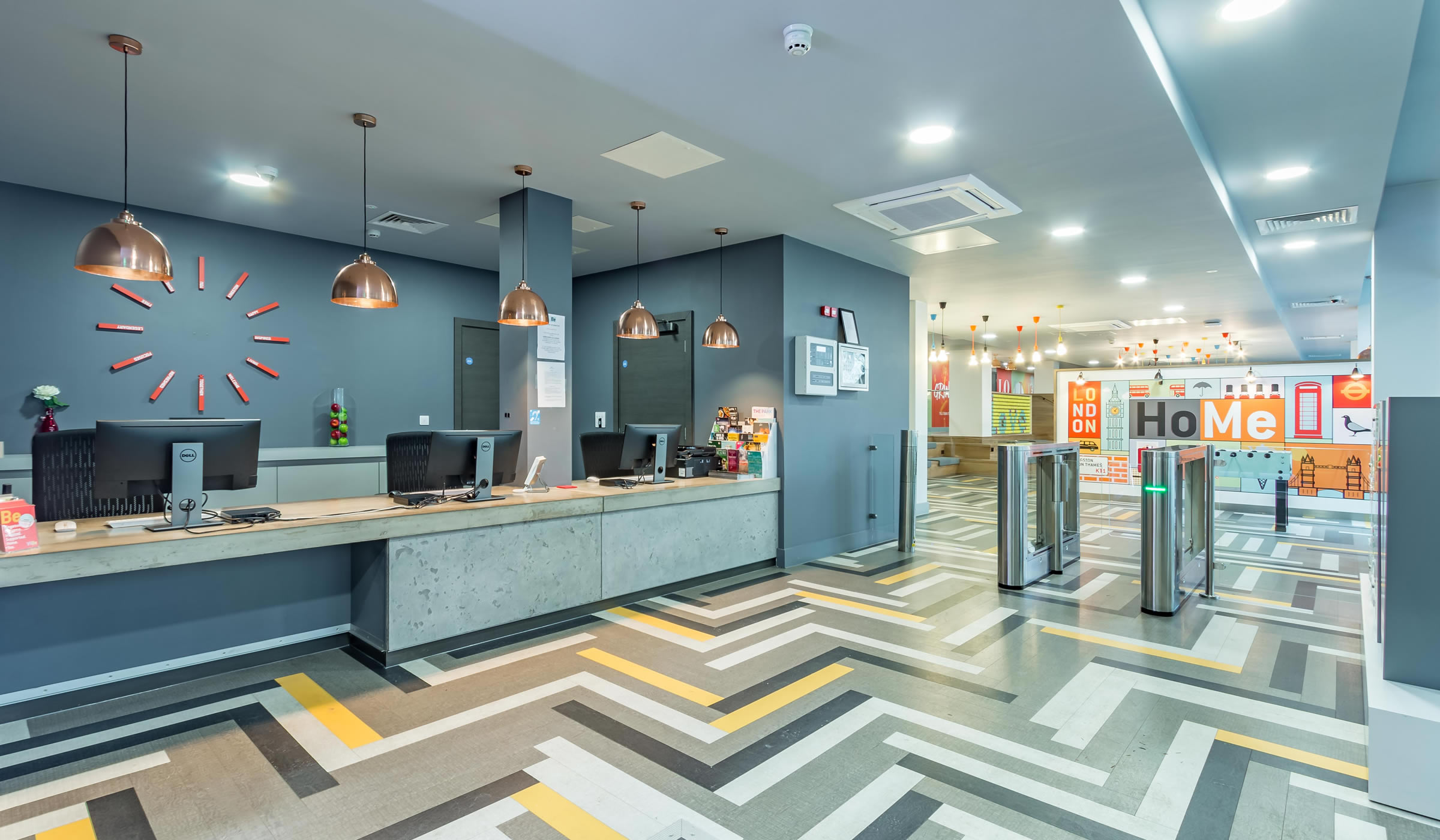 Vibe student accommodation reception area