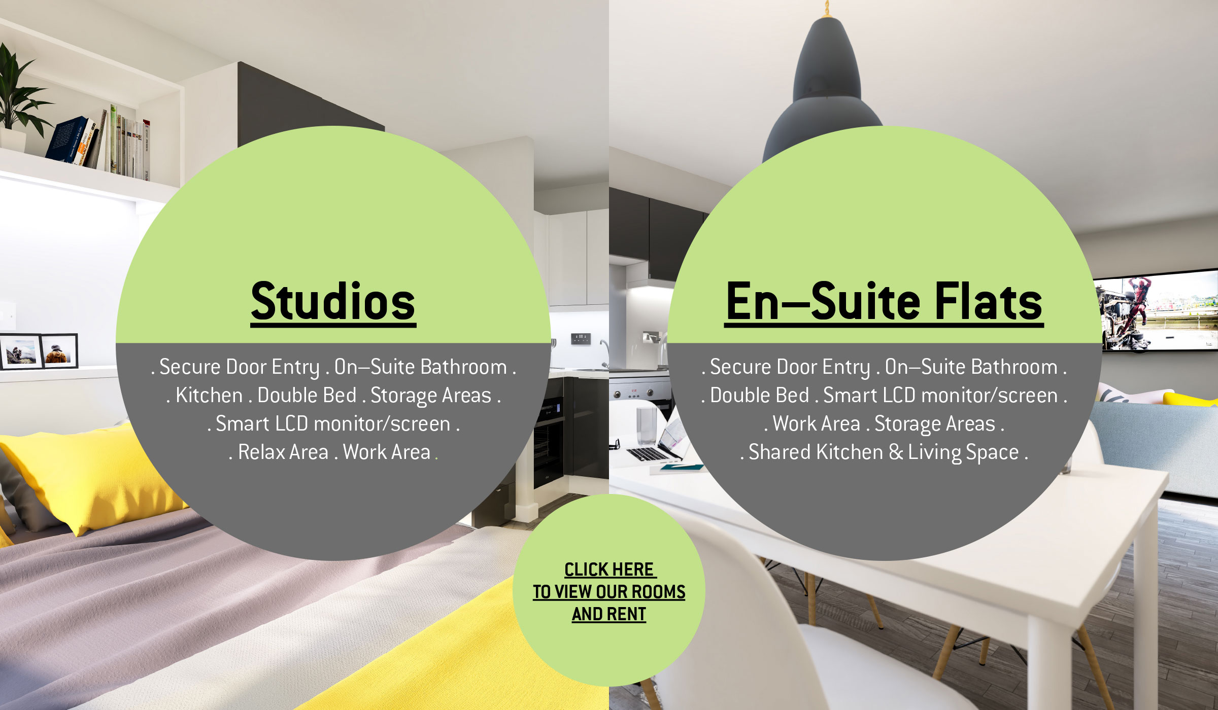 Vibe Student Living accommodation studios and en-suite